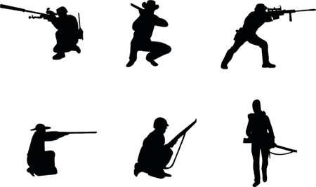 rifleman: siluetas del rifleman