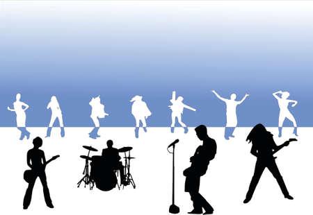 rock party Illustration