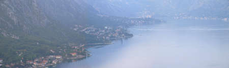 Panoramic view of Boka Kotorska Bay, Montenegro photo