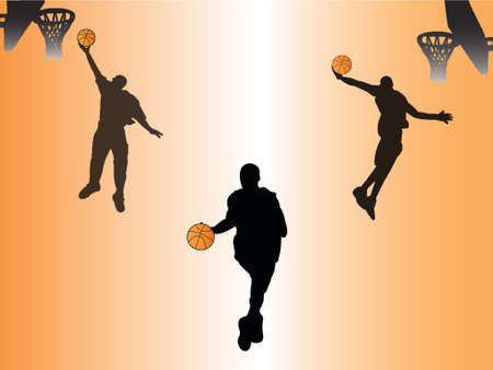 playoff: basketball silhouettes