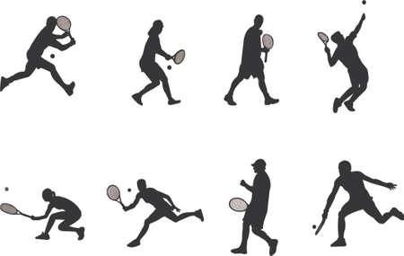 girl tennis: tennis silhouettes