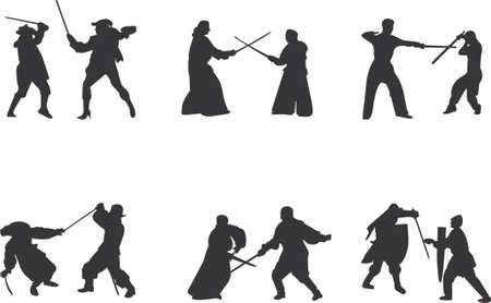 spaniard: sword fight vector