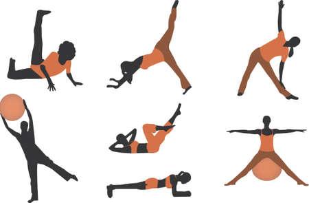 ejercicio ilustraciones Ilustración de vector
