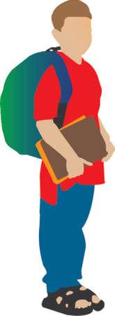 straps: schoolboy illustration Illustration