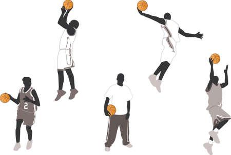 playoff: basketball player illustrations