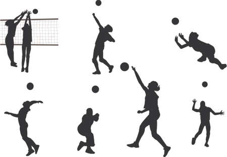 servir: volleyball silhouettes