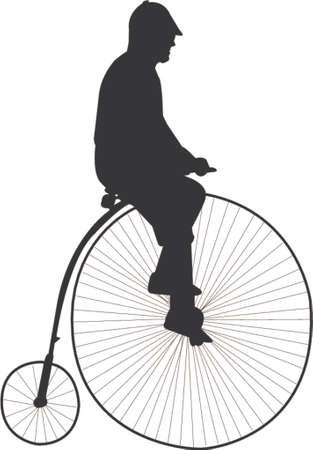 bicycle silhouette: old bicycle silhouette