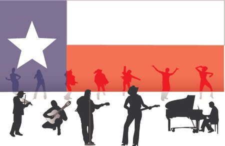 country music: Musica country  Vettoriali