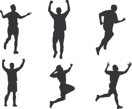 scoring: scoring and celebrating silhouettes Illustration