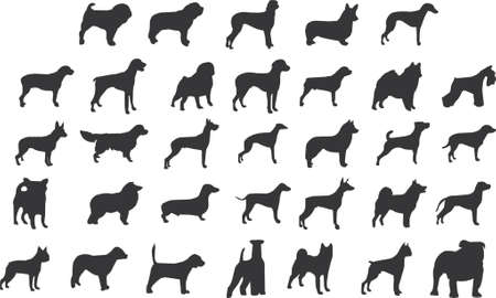 dogs silhouettes Illustration