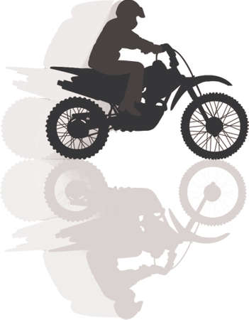 trail bike: high speed biker Illustration