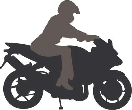 trail bike: biker vector