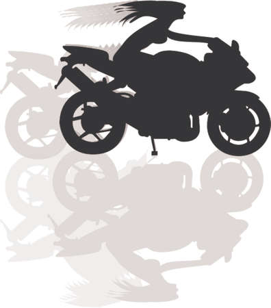 trail bike: girl biker vector