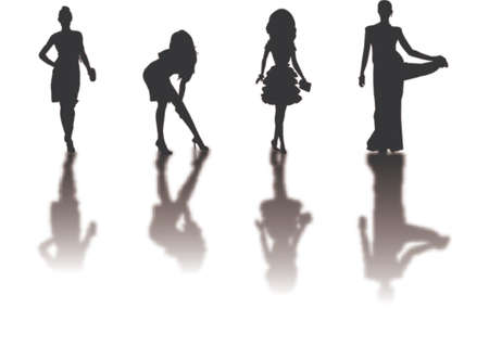 beauty model: fashion silhouettes 2 Illustration