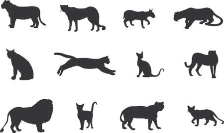 cat silhouettes Stock Vector - 654353