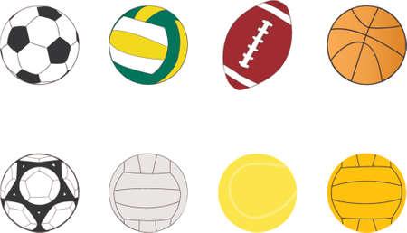 volleyball serve: Deporte pelotas im�genes predise�adas  Vectores