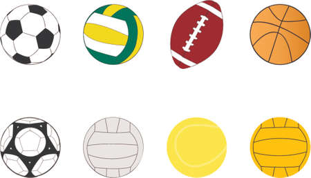 waterpolo: sport balls clipart