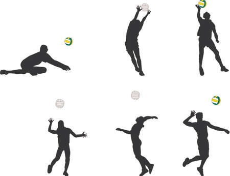 volleyball girl: volleyball silhouettes