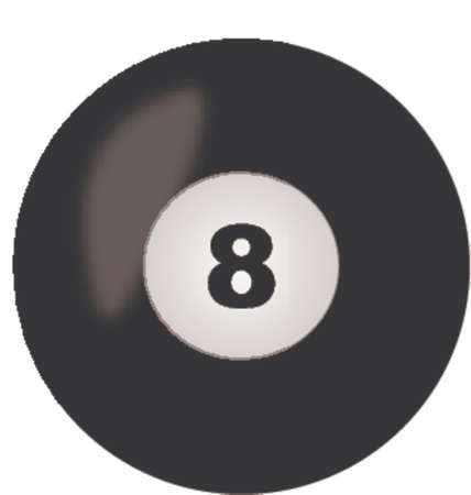 eight ball (change color or number as you wish) Stock Vector - 665560