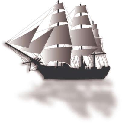 old sailship illustration
