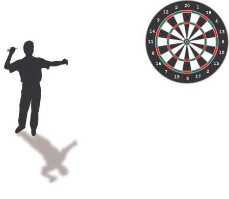 throwing: darts silhouette