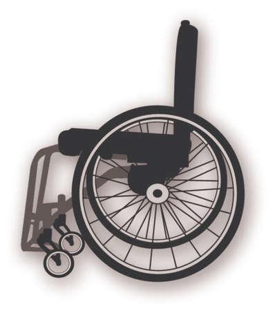handicap: clipart della sedia a rotelle