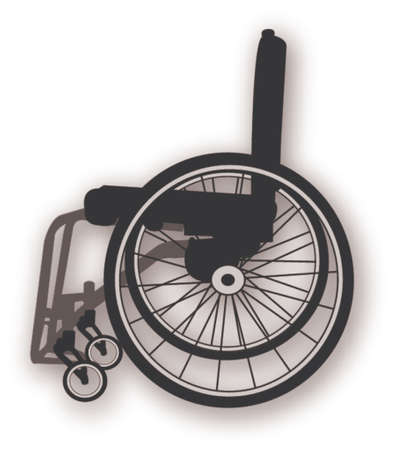wheelchair clipart Stock Vector - 665554