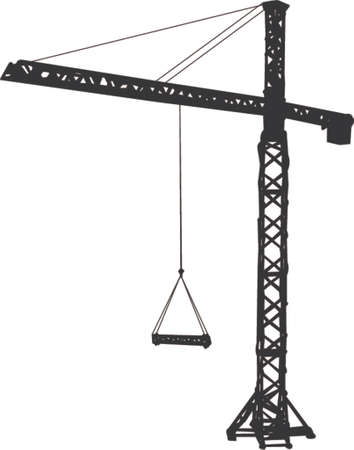 tense: tower-crane clipart Illustration