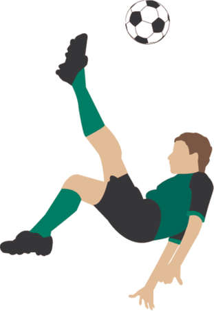 Bicycle kick illustration