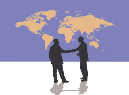 terra: world deal illustration Illustration
