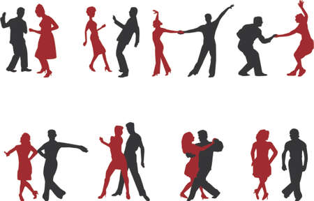 dancing silhouettes Stock Vector - 753129