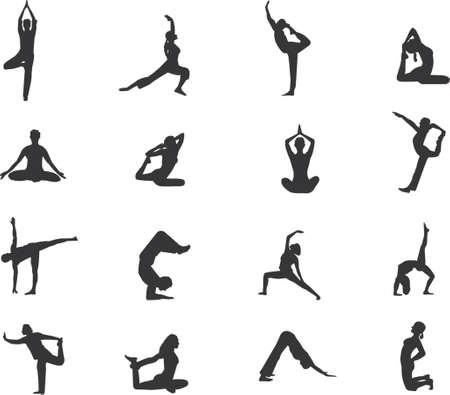 few more yoga silhouettes Illustration