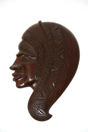 wooden women mask isolated on white background Stock Photo - 911490