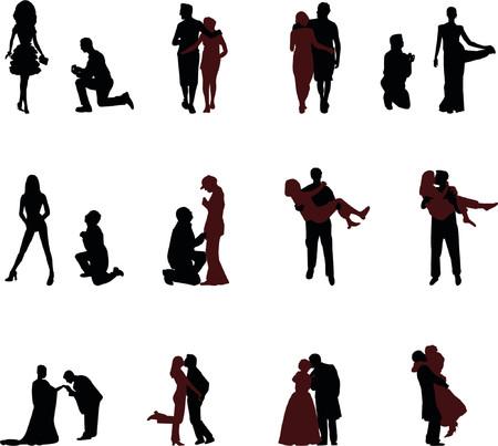 romantische Silhouetten