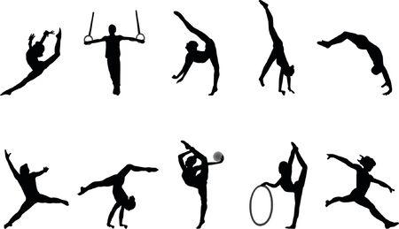 gimnasia siluetas