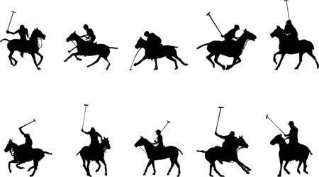 equestrian polo silhouettes