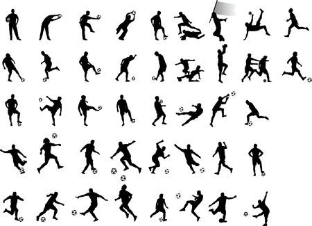 soccer silhouettes Ilustração