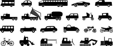 transportation icons Ilustração