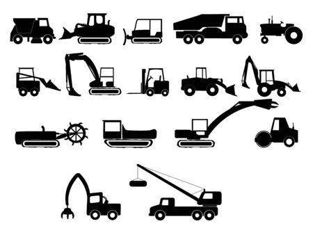 heavy industry machines illustration Ilustração