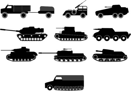 tanks and armoured vehicles illustrations