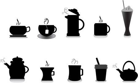 tea and coffee illustrations