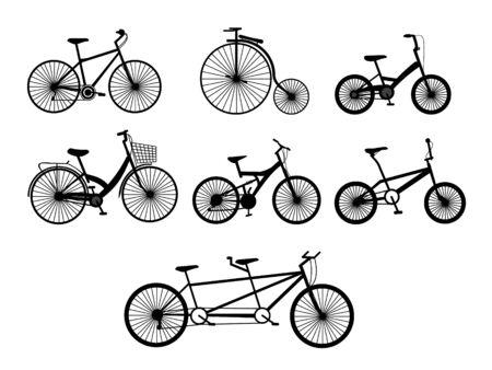 bicycle silhouettes Ilustração