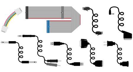 cables vector illustration Ilustração
