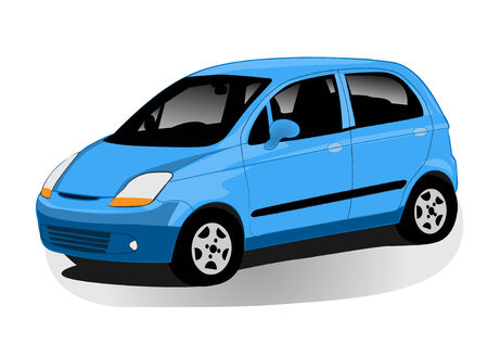 modern automobile illustration