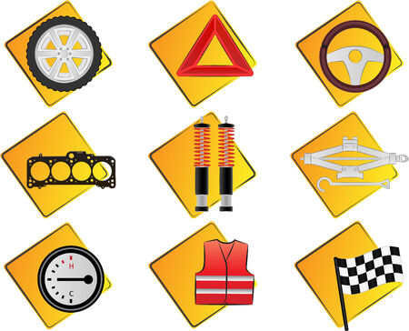 Car related vector icons