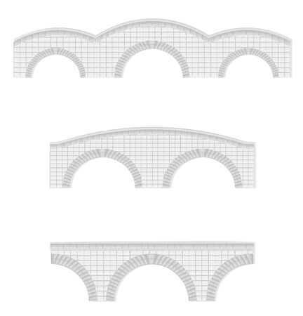stone bridges vector illustration (elements can be used to make larger bridges)