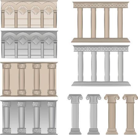 ancient pillars illustration