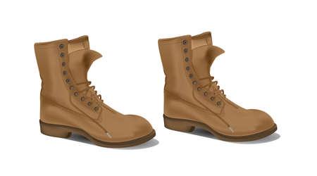 foot gear: Boots detail illustration