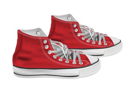 escarpines: Ilustración de zapatillas deportivas