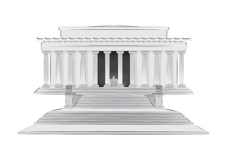 Lincoln Memorial vector illustratie